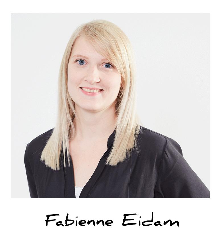 Fabienne, Auszubildende Mediengestalterin bei A.S. Création