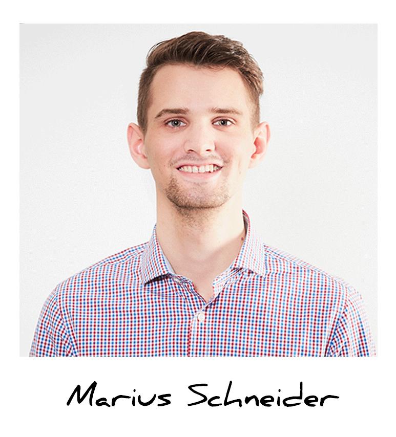 Marius, Auszubildender Mediengestalter bei A.S. Création
