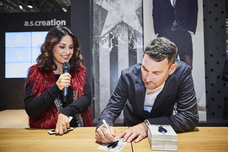 Michael Michalsky und Nina Moghaddam auf der Heimtextil 2017